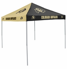 Colorado Buffaloes Black / Gold Logo Canopy Tailgate Tent