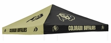 Colorado Buffaloes Black / Gold Logo Tent Replacement Canopy