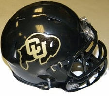 Colorado Buffaloes Black Riddell Speed Mini Helmet
