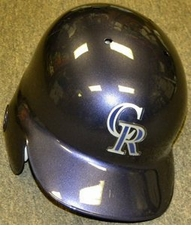 Colorado Rockies Left Flap Rawlings  Authentic Batting Helmet