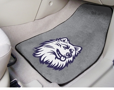 Connecticut Huskies 2-Piece Carpeted Car Mats Front Set
