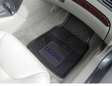 Connecticut Huskies 2-Piece Heavy Duty Vinyl Car Mat Set