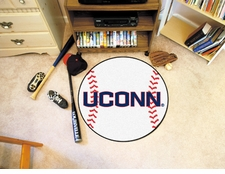 "Connecticut Huskies 27"" Baseball Floor Mat"