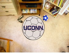 "Connecticut Huskies 27"" Soccer Ball Floor Mat"