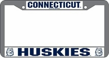 Connecticut Huskies Chrome License Plate Frame
