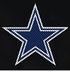 Dallas Cowboys 12 x 12 Die-Cut Window Film Decal