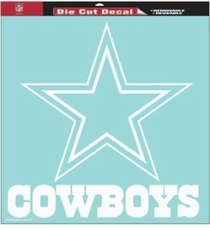 Dallas Cowboys 18 x 18 Die-Cut Decal