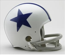 Dallas Cowboys 1960-63 2-Bar Throwback Replica Mini Helmet