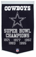 Dallas Cowboys 24 x 36 Wool Dynasty Banner