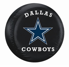 Dallas Cowboys Black Large Spare Tire Cover
