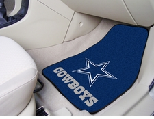 Dallas Cowboys Car Mats 2 Piece Front Set