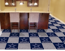 "Dallas Cowboys Carpet Tiles - 20 18"" x 18"" Tiles"