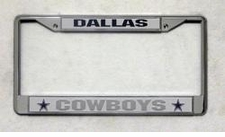 Dallas Cowboys Chrome License Plate Frame