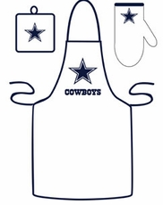 Dallas Cowboys Cooking / Grilling Apron Set