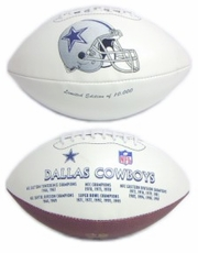 Dallas Cowboys Embroidered Autograph Signature Series Football