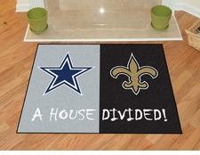 Dallas Cowboys - New Orleans Saints House Divided Floor Mat
