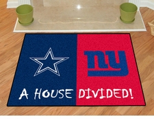 Dallas Cowboys - New York Giants House Divided Floor Mat