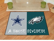 Dallas Cowboys - Philadelphia Eagles House Divided Floor Mat