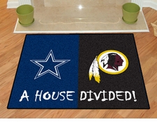 Dallas Cowboys - Washington Redskins House Divided Floor Mat