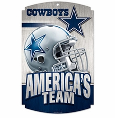 Dallas Cowboys Wood Sign