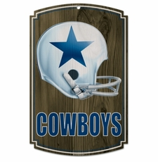 Dallas Cowboys Wood Sign - Throwback