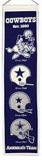 Dallas Cowboys Wool 8x32 Heritage Banner