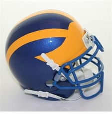 Delaware Blue Hens Schutt Authentic Mini Helmet