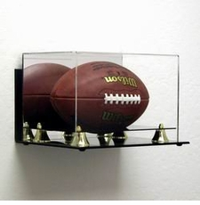 Deluxe Acrylic Football Display Case - Wall Mountable