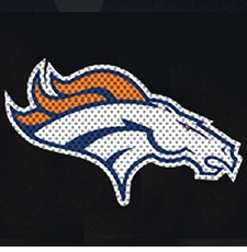 Denver Broncos 12 x 12 Die-Cut Window Film Decal