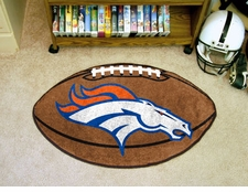 "Denver Broncos 22""x35"" Football Floor Mat"
