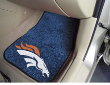 Denver Broncos Car Mats 2 Piece Front Set