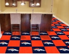 "Denver Broncos Carpet Tiles - 20 18"" x 18"" Tiles"