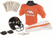 Denver Broncos Deluxe Youth / Kids Football Uniform Set