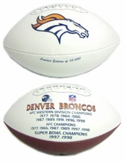 Denver Broncos Embroidered Autograph Signature Series Football