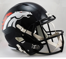 Denver Broncos Full-Size Deluxe Replica Speed Helmet