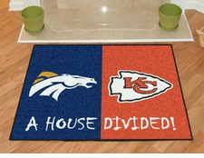 Denver Broncos - Kansas City Chiefs House Divided Floor Mat