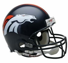 Denver Broncos Riddell Full Size Authentic Helmet