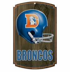 Denver Broncos Wood Sign - Throwback