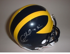 Desmond Howard Heisman Autographed Michigan Wolverines Riddell Mini Helmet