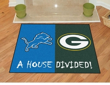 Detroit Lions - Green Bay Packers House Divided Floor Mat