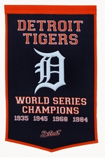 Detroit Tigers 24x36 Wool Dynasty Banner