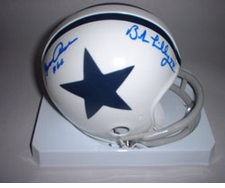 Doomsday Defense Dallas Cowboys Autographed Throwback Mini Helmet