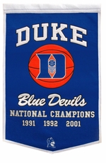 Duke Blue Devils 24 x 36 Basketball Dynasty Wool Banner