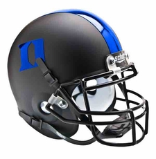 Duke Blue Devils Black w/ Blue 'D' Schutt Authentic Mini Helmet
