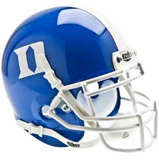 Duke Blue Devils Blue Schutt Authentic Mini Helmet