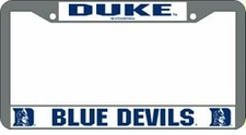 Duke Blue Devils Chrome License Plate Frame