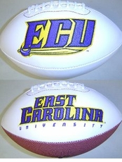 East Carolina Pirates Full Size Signature Embroidered Foto Football