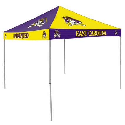 East Carolina Pirates Purple / Yellow Checkerboard Logo Canopy Tailgate Tent