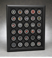 Executive 30 Puck Display Case with Formed Black Back