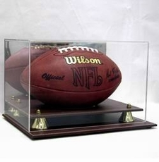 Executive Acrylic Football Display Case with Leather Base